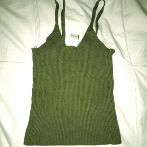 Green stretchy tank top
